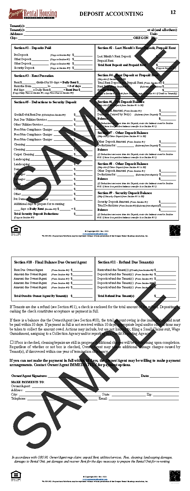 Oregon Rental Housing Association  Choose Your Form