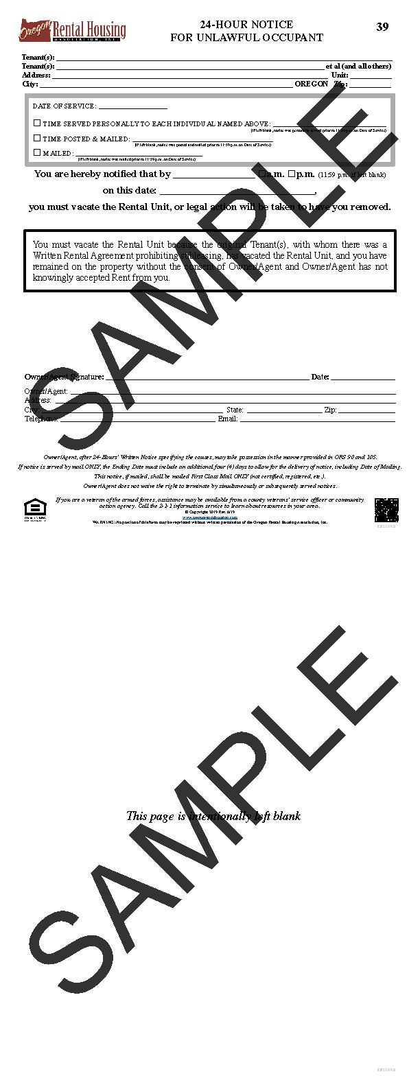 ORHA - Oregon Rental Housing Association - Online Forms Store