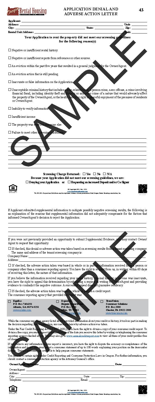 Oregon Rental Housing Association Choose Your Form